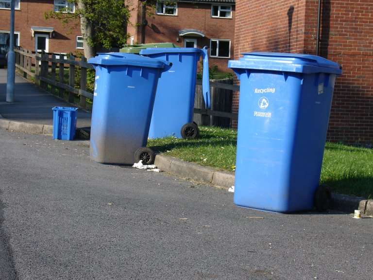 bins left in the street