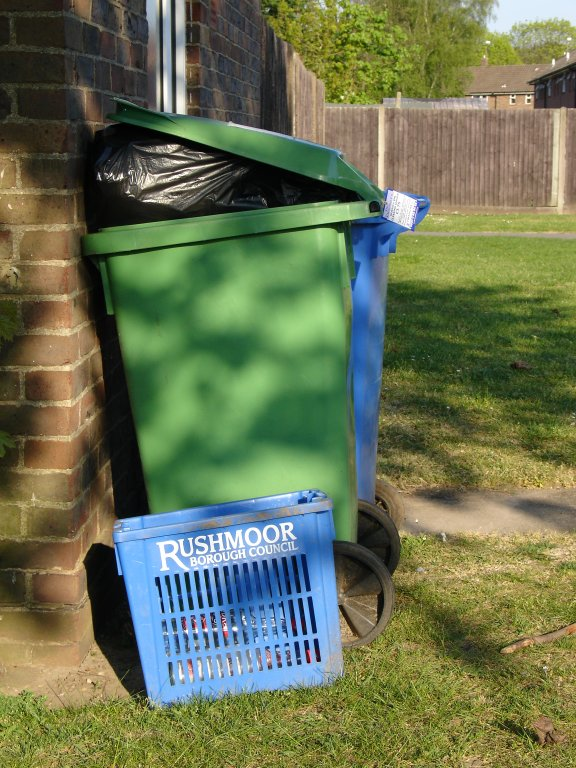 overflowing bins one week to go