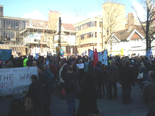 Rally at Bonn Square